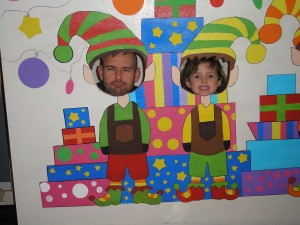 Brian and Bella being silly at the Skagit Young Professionals Christmas Party.